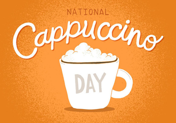 National Cappuccino Day - vector #391111 gratis