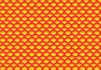 Orange scallop repeating pattern - vector gratuit #391151