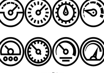 Vector Set Of Tachometer Icons - vector gratuit #391171