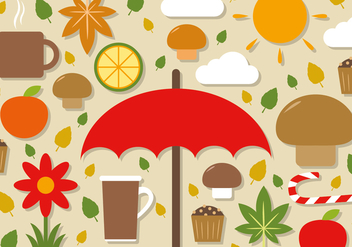 Free Flat Autumn Vector Elements - Free vector #391201