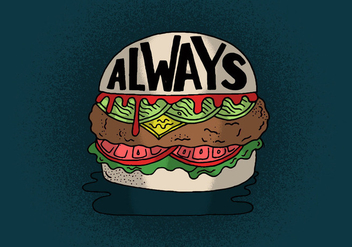 Always Cheeseburger Vector - Free vector #391211