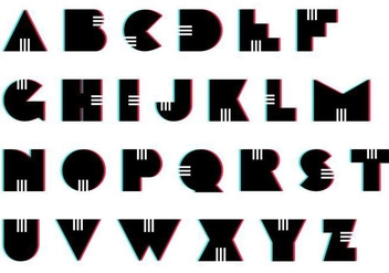 Letras Set: Retro - vector gratuit #391231