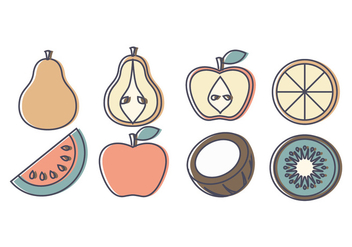Vector Fruit Collection - vector gratuit #391251