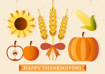 Thanksgiving Plants and Produce - Free vector #391271
