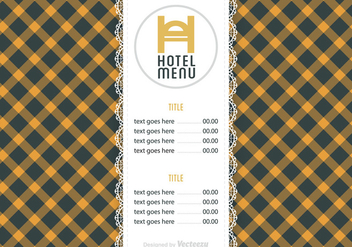 Free Hotel Menu Vector Template - бесплатный vector #391301