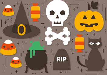 Free Halloween Elements Vector Collection - бесплатный vector #391341