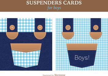 Free Vector Suspenders Card - Kostenloses vector #391391