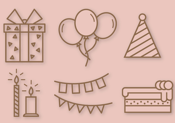 Free Birthday Party Vector - Kostenloses vector #391481