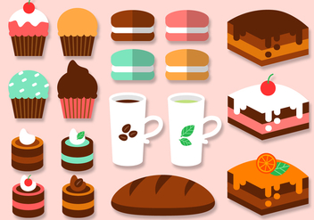 Free Bakery Elements Vector - Free vector #391501