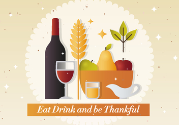 Free Thanksgiving Vector Illustration - Kostenloses vector #391521