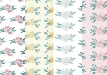 Vector Floral Patterns - vector gratuit #391551