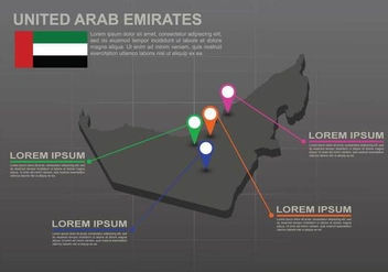 Free UAE map Illustration - vector #391621 gratis