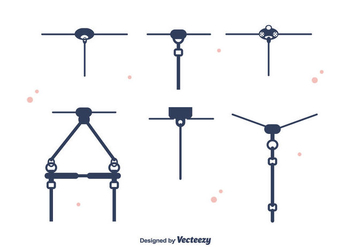 Zipline Set Vector - бесплатный vector #391661