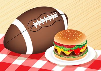 Burger for Tailgate - vector gratuit #391681
