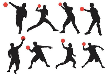 Active Dodgeball Silhouette - Free vector #391721