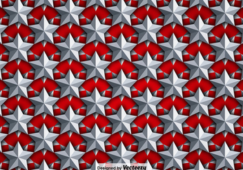 Vector Background With Silver 3D Stars Seamless Pattern - vector #391841 gratis