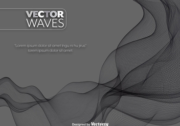 Vector Black Abstract Wave Element - Free vector #391861