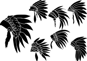 Indian Headdress Vector - бесплатный vector #391891
