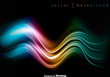 Vector Colorful Wave On Black Background - vector #392001 gratis