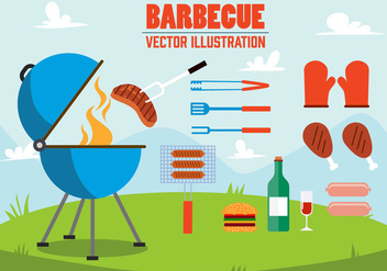 Free Barbecue Vector Illustration - Kostenloses vector #392031
