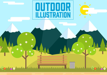 Free Landscape Vector Illustration - Free vector #392041