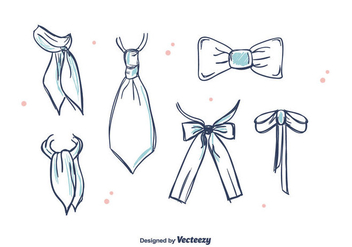 Ties And Cravat Vector - Free vector #392091