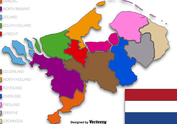 Netherlands State Vector Illustration - vector gratuit #392131