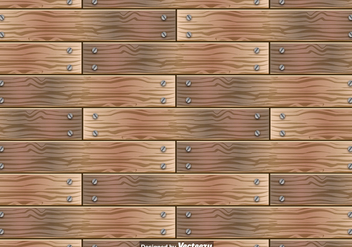 Wooden Planks Vector Seamless Pattern - Free vector #392151