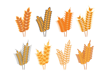 Harvest Oat Icons - vector #392161 gratis