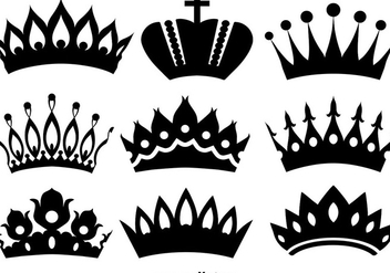 Vector Icons Of Crowns - Free vector #392171