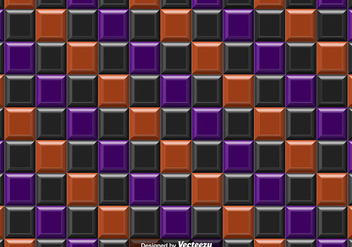 Vector Purple Orange And Black Tiles Abstract Background - Seamless Pattern - vector gratuit #392191