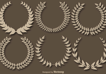 Wreath Crowns Vector Set - бесплатный vector #392201
