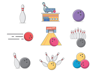 Free Bowling Vector - Free vector #392231