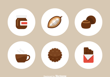 Free Flat Chocolate Vector Icons - Free vector #392251