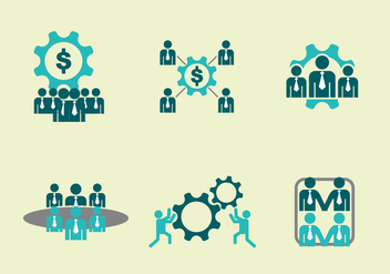 Team Work Icons Vector - vector #392321 gratis