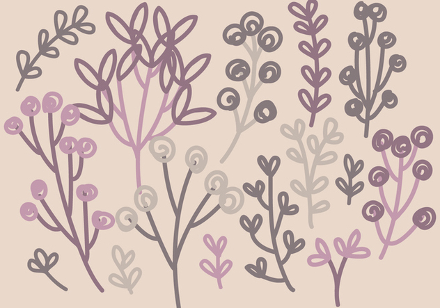 Vector Hand Drawn Branches - vector gratuit #392331