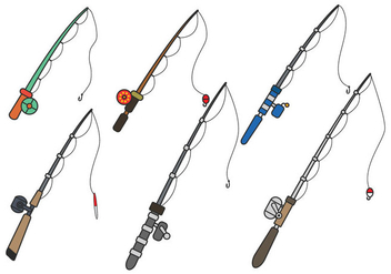 Fishing Rod Vector - Free vector #392391