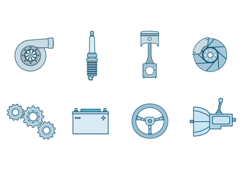 Free Automotive Parts Vector - vector gratuit #392401