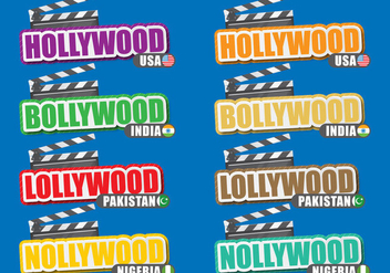Film Cities Titles - vector gratuit #392411