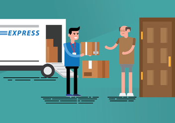 Free Delivery Man Illustration - vector gratuit #392541