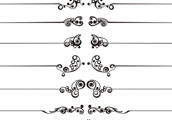 Set Of Vector Ornamental Text Dividers - vector #392631 gratis
