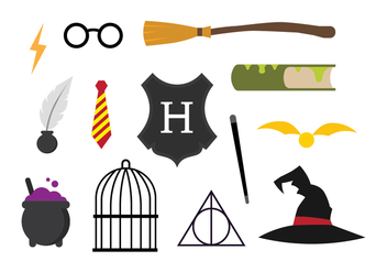 Free Hogwarts Vector Set - бесплатный vector #392661