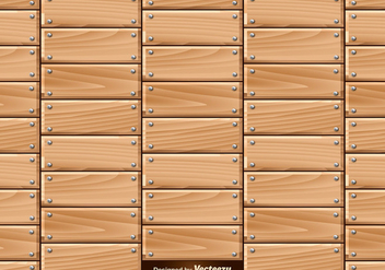 Vector Seamless Pattern Of Wooden Planks With Nails - vector gratuit #392691