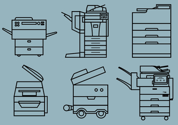 Photocopier Vector Pack - vector gratuit #392771