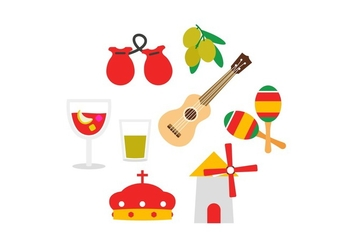 Free Spain Icon Set - vector #392821 gratis