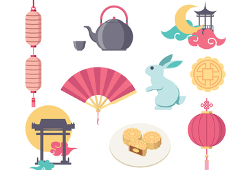 Free Mid Autumn Festival Vector Icon - Free vector #392861