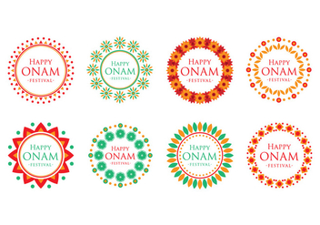 Free Onam Festival Text with Decorative Frame Vector - Kostenloses vector #392941