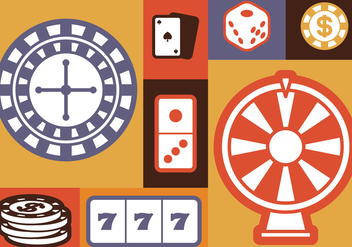 Gambling Icons Set - Free vector #393011
