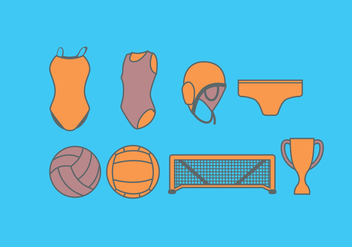 Water Polo Equipment Vector - бесплатный vector #393111