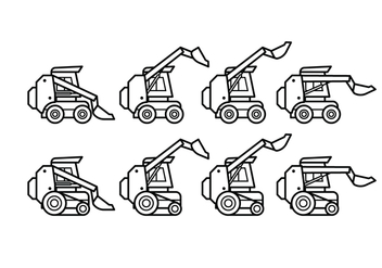 Free Skid Steer Vector Pack - Kostenloses vector #393151